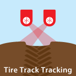 Tire Track Tracking using ultrasonic technology