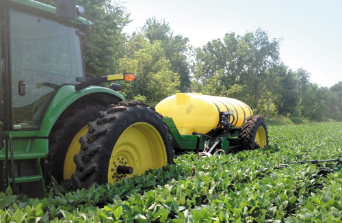 Sidedressing a field using precision ag technology