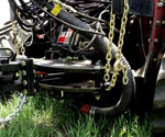 Closeup of a 400DB hydraulic hitch mounted to a 535 CaseIH QuadTrac Tractor