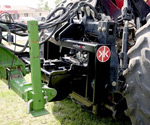 ProTrakker 400DX hydraulic hitch mounted on a CaseIH MX285 tractor pulling a 24 row John Deere 1770 planter