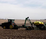 ProTrakker 400DX guidance system mounted on a 8000T series John Deere tractor pulling a 24 row John Deere 1770 planter