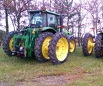 ProTakker 400DX mounted on two John Deere tractors
