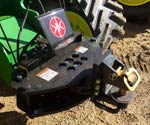 ProTrakker 500DB Hydraulic Hitch mounted on a John Deere 9520RX